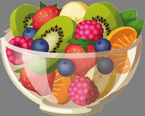 Sticker P 57675 Png Ilustrasi Makanan Buah Salad Buah