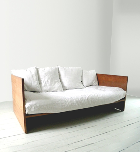 Sofa With Exposed Wood Frame Home Wooden Daybed Wood