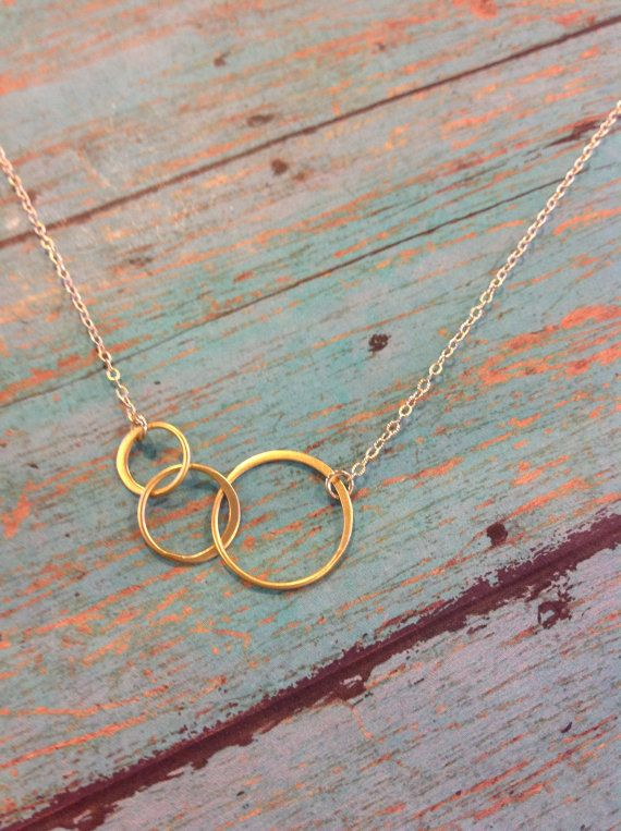 Gold Eternity Necklace Lovely Love Knot by RoseWaterDesigns