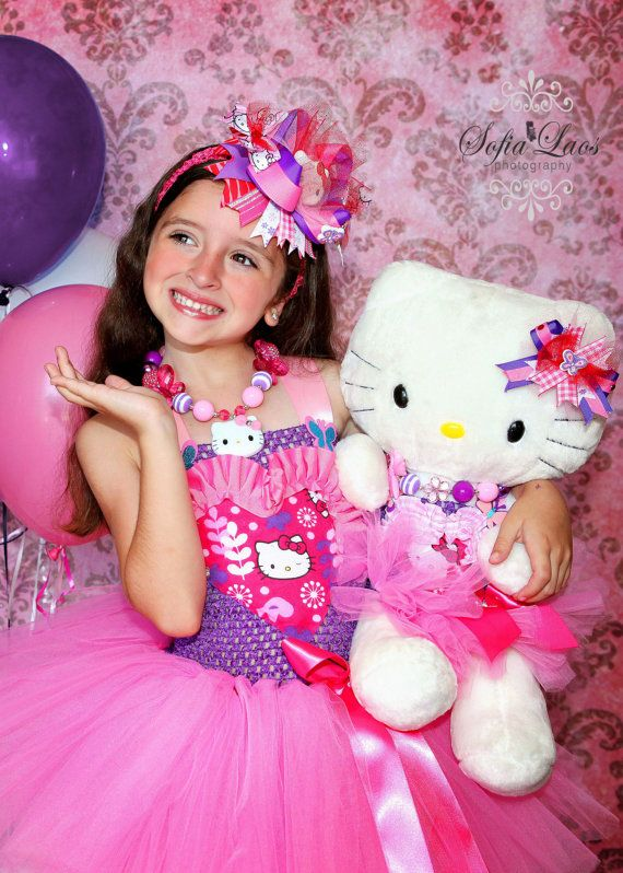 Birthday pink Hello Kitty dress by SofiasCoutureDesigns on Etsy ...