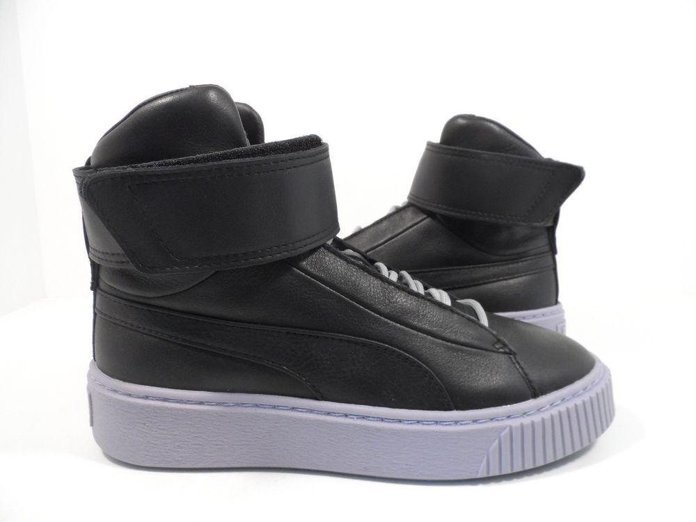Black leather shoes, Puma women