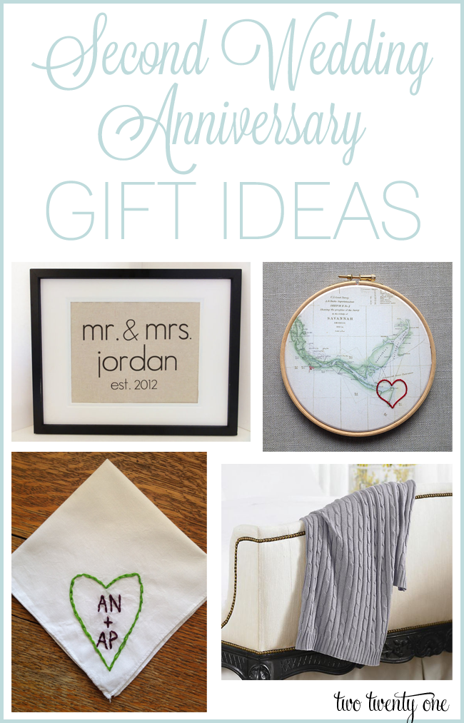 ideas for second wedding anniversary gifts for husband