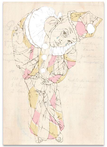 Clowns by Matilde Digmann, via Behance