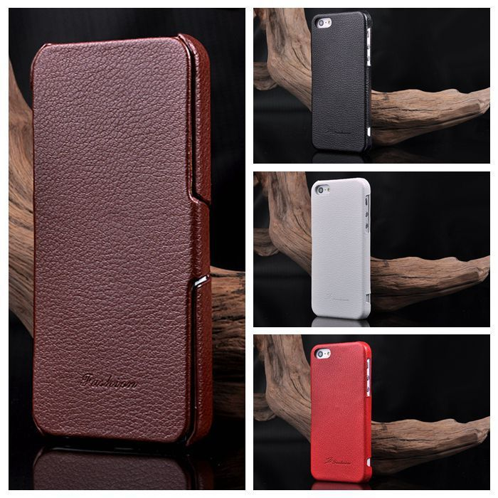 New Business Case For iPhone 5s Luxury Fundas Flip Cover Case For iPhone 5S Capa Para Phone Cases black brown white red rose