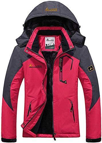 Enjoy Exclusive For Women S Warm Waterproof Ski Jacket Fleece Lined Detachable Hood Winter Coat Outdoor Windproof Parka Online Chictrendyfashion Mens Winter Coat Winter Jackets Women Womens Parka