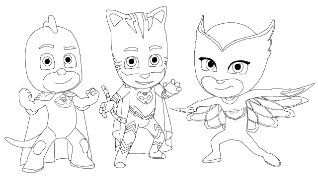 Top 30 Pj Masks Coloring Pages With Images Pj Masks Coloring Pages Mask Drawing Cartoon Coloring Pages