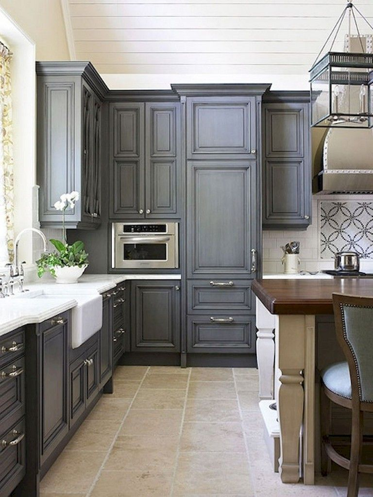 38 beautiful farmhouse gray kitchen cabinet ideas kitchen cabinet door styles grey kitchen on farmhouse kitchen grey cabinets id=36837