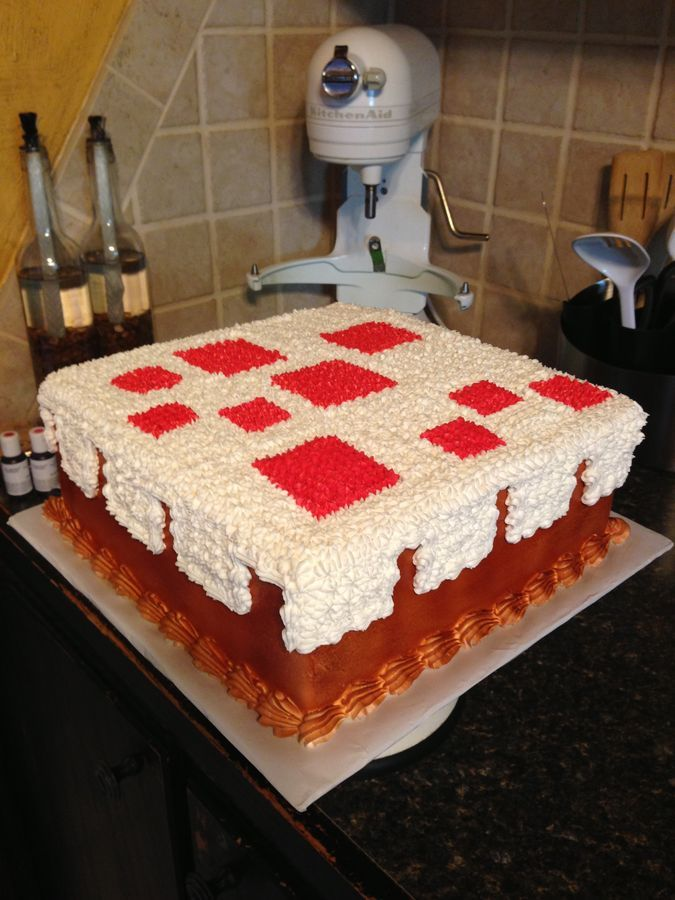 Minecraft Cake From The Game Marble Cake With Buttercream
