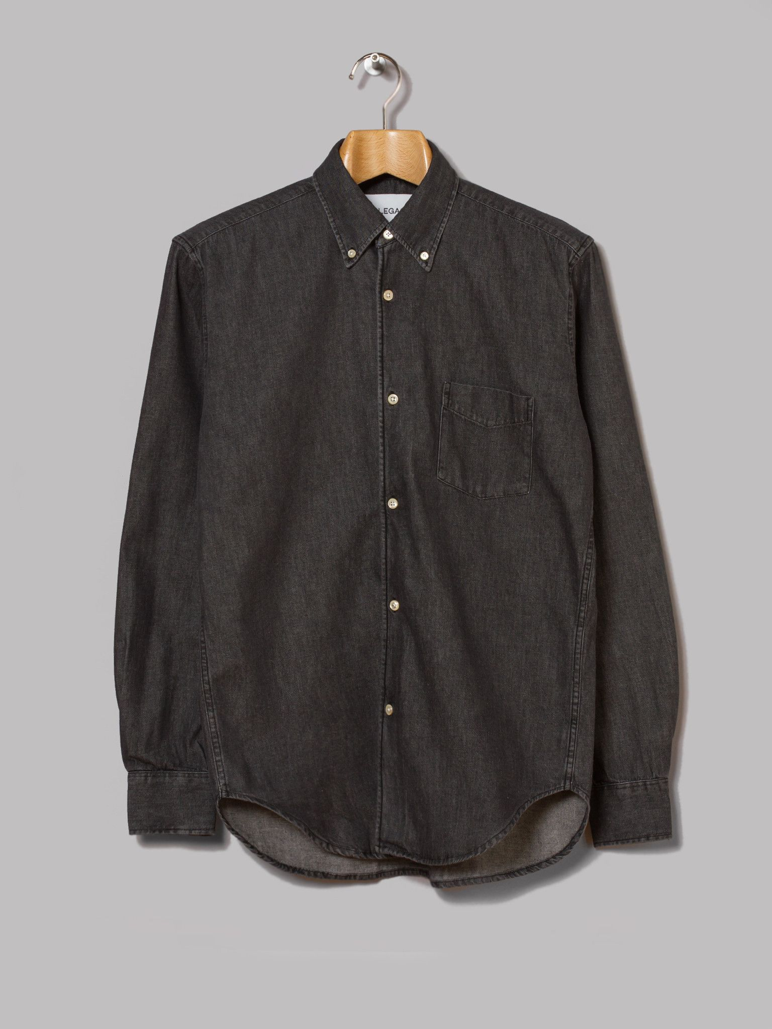 Our Legacy 1950s Button Down Shirt (Black Denim) | Stuff to Buy ...