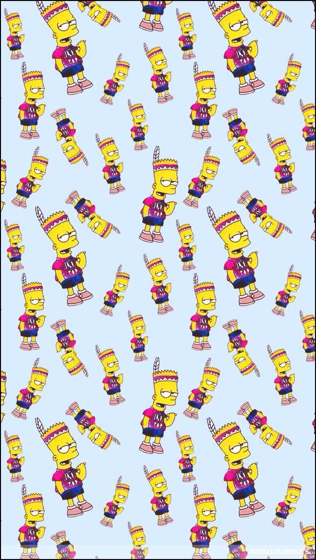 Papel De Parede Fundo Para Whatsapp Bart Simpson