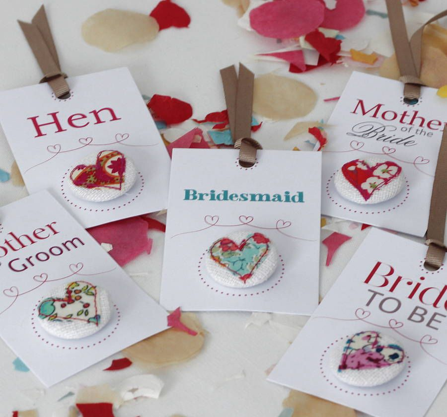 hen party badges by what katie did next | notonthehighstreet.com