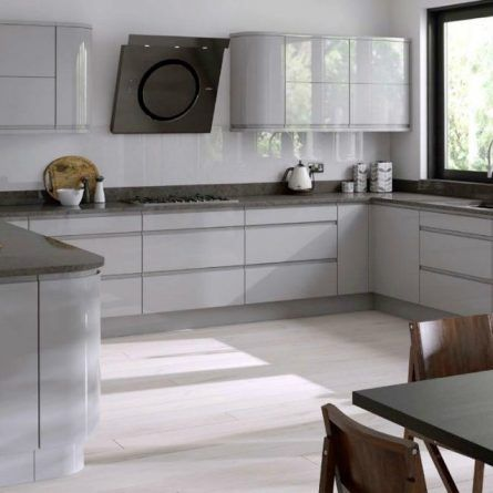 Gemini Dove Grey Gloss Kitchen Doors Dove Grey And Grey Gloss Kitchen