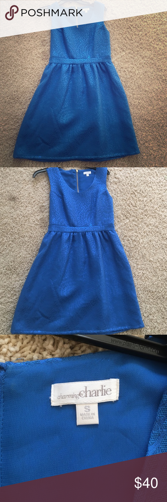 Royal Blue cocktail dress Charming Charlie's Royal Blue cocktail dress. Worn once to holiday party. In excellent condition. Charming Charlie Dresses