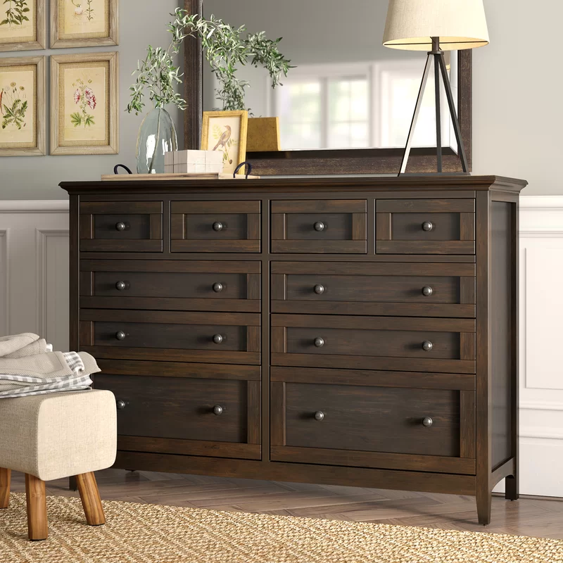 August Grove Calila 10 Drawer Double Dresser & Reviews