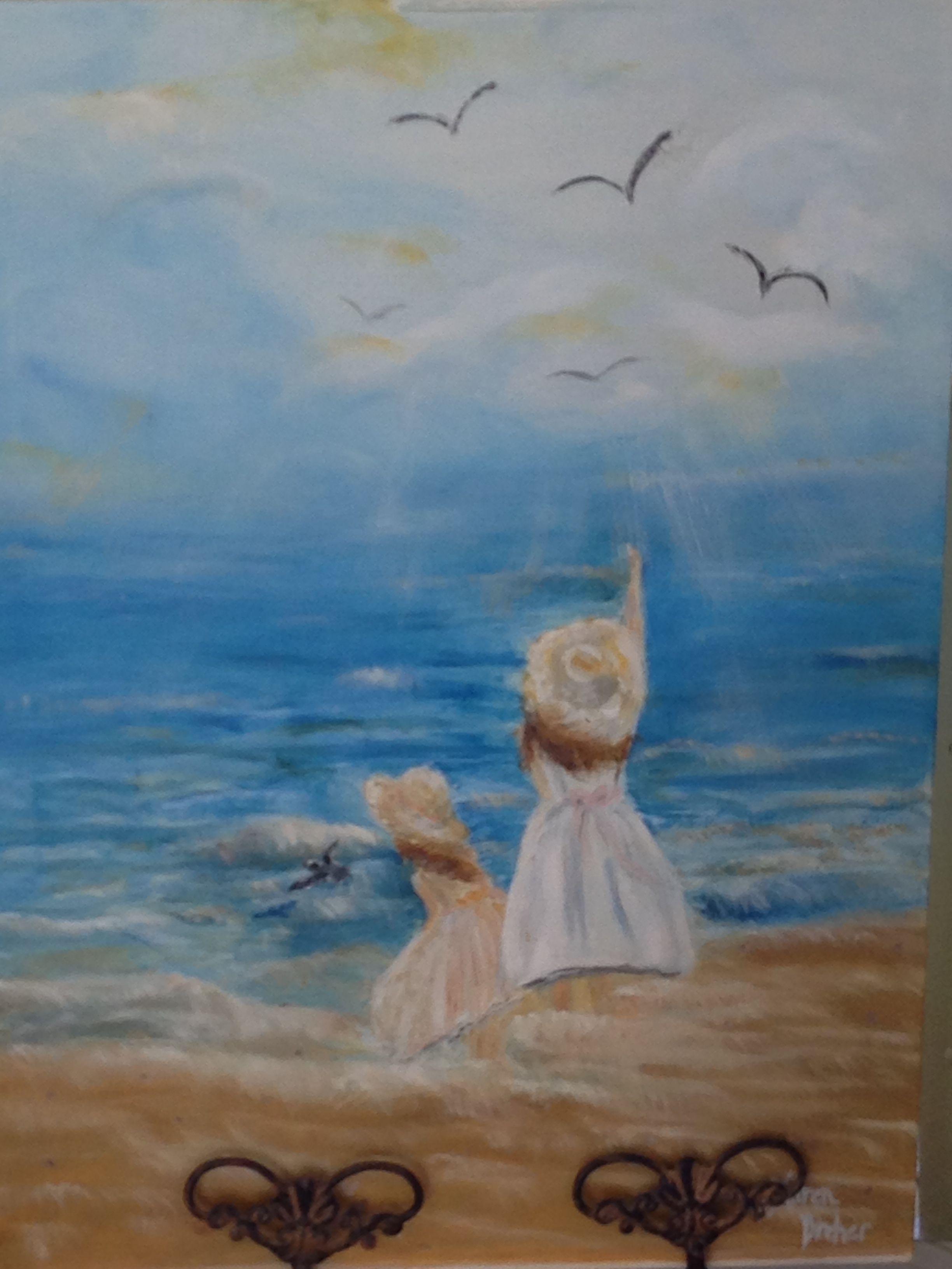 Halo Shines, Hannah and Lorelai at the beach. Artist: Kare Dreher