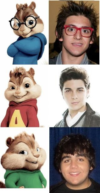 Il Volo as Alvin and the Chipmunks