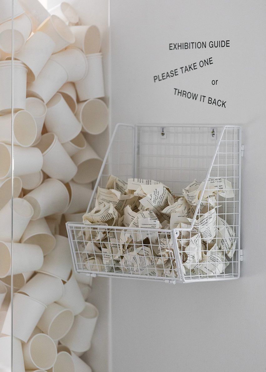 Sustainability is promoted in the exhibition space of the Made Thought pop-up shop in London.