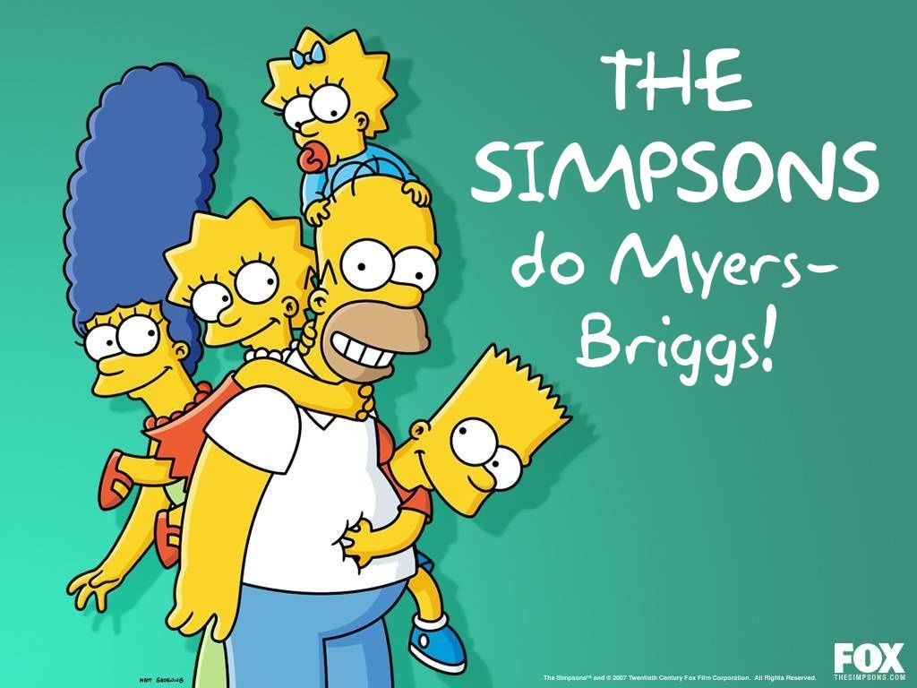 The Simpsons Myers-Briggs Test by Lina Trullinger via slideshare