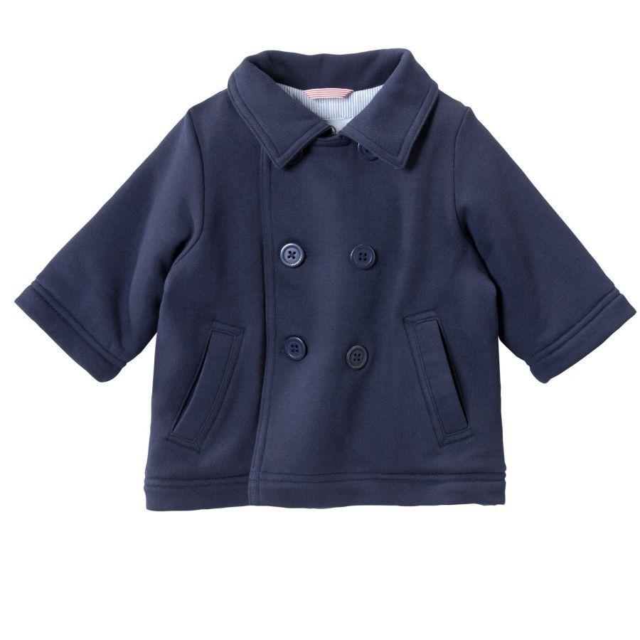 Petit Bateau baby jasje donkerblauw