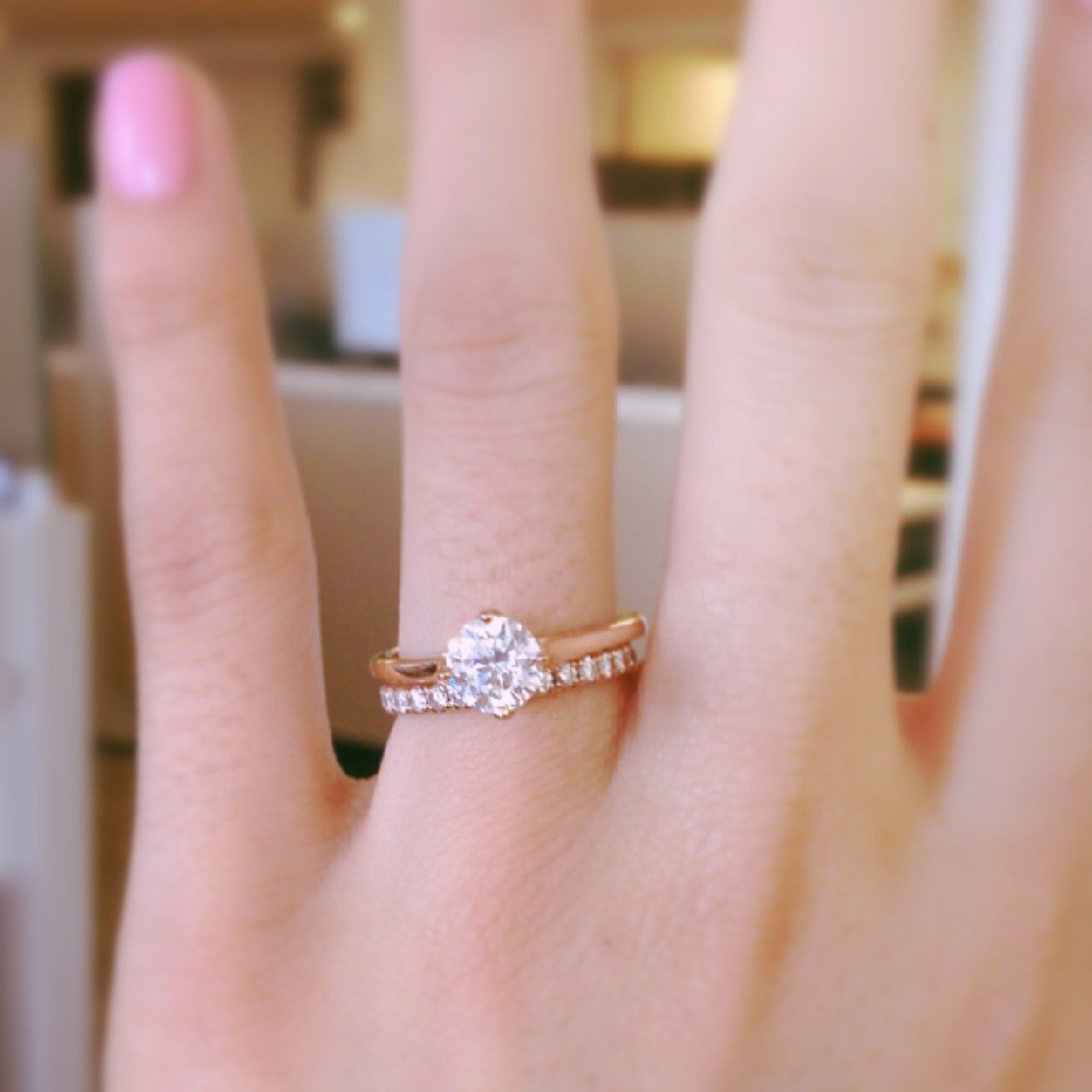 East-West Solitaire Engagement Ring in 14k Rose Gold | Solitaire ...