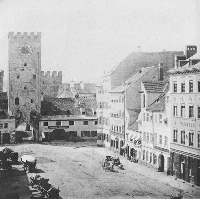 München: Das alte Karlstor (1857)
