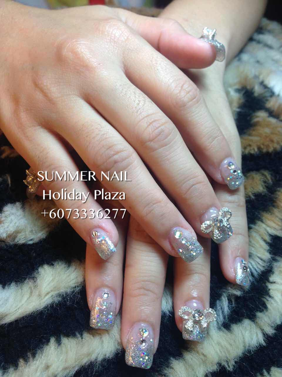 Summer Nail Holiday Plaza Mcdonald S Upstairs 3rd Floor 6073336277 Whatsapp 60163188359 Instagram S Wedding Nails Design Bridal Nails Gel Pedicure