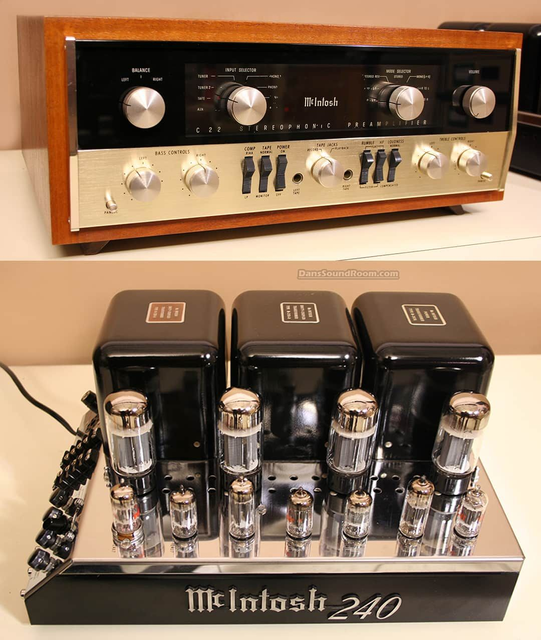 Mcintosh Hifi System C22 240 Preamplifier Power Amplifier All Tube Reverb