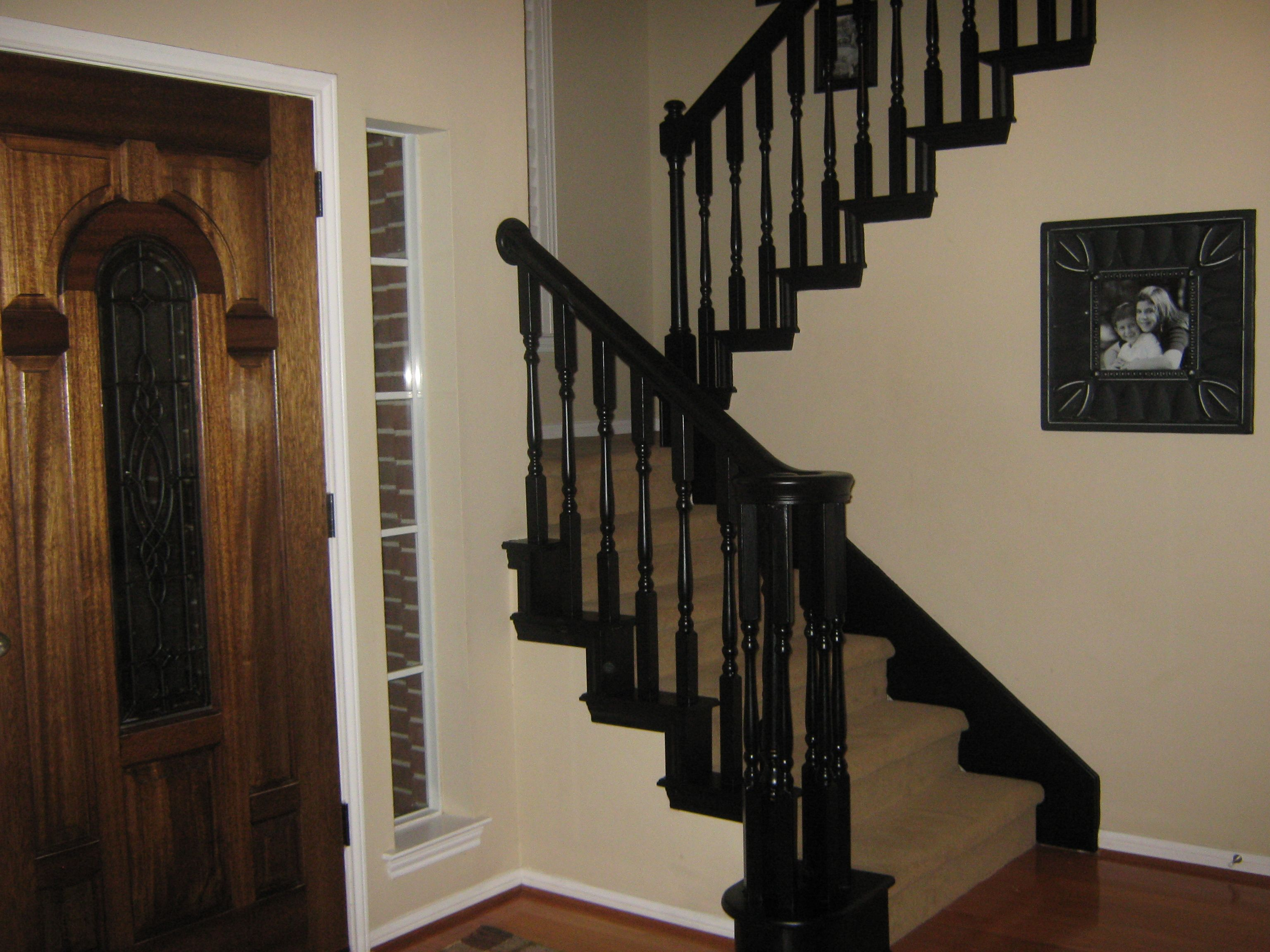 Best Diy Painted Black Stairwells I Am Thinking Dark Brown 400 x 300