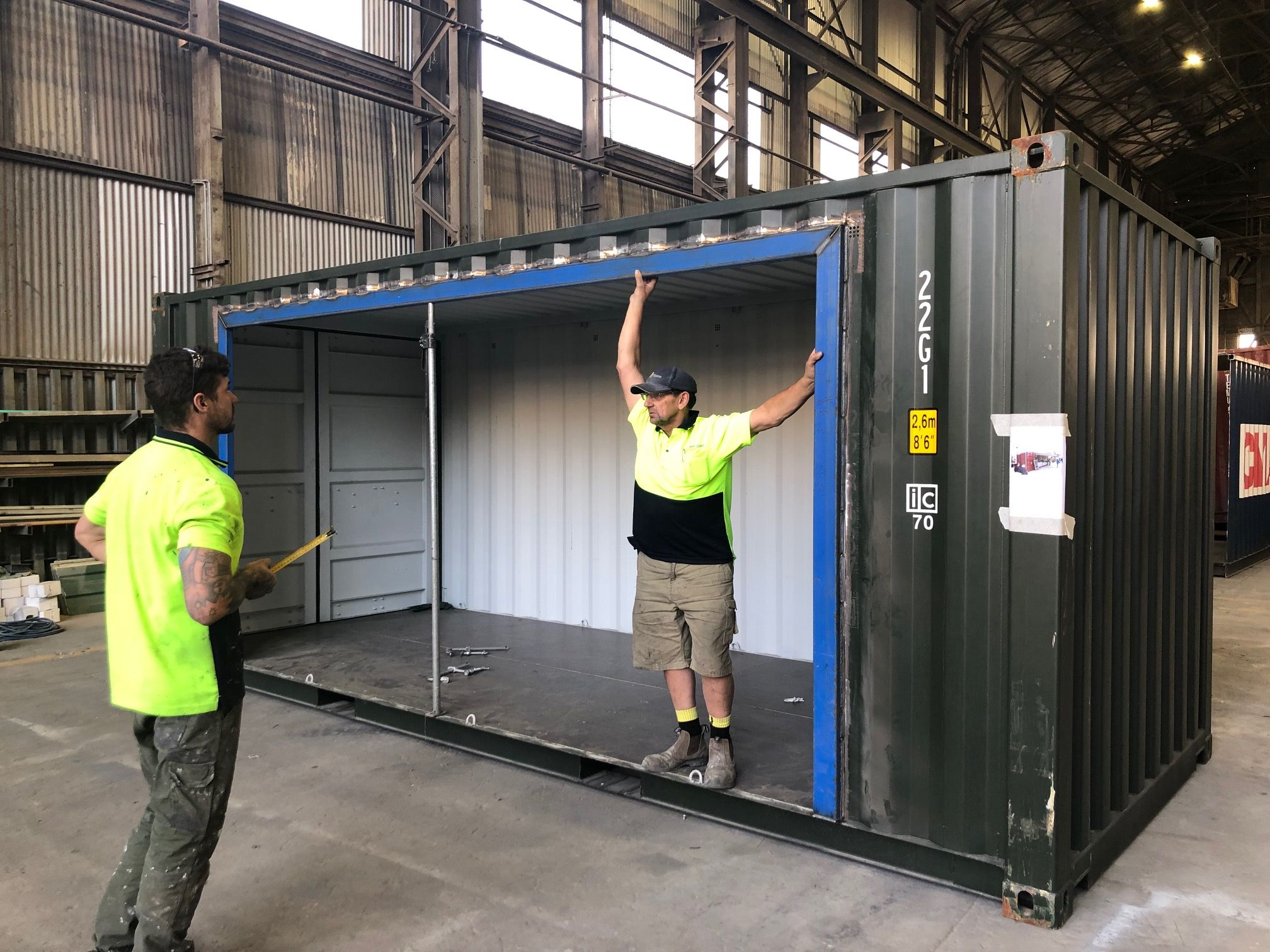 Shipping Containers For Sale In Melbourne Containerspace Shipping Container Shipping Container Workshop Building A Container Home
