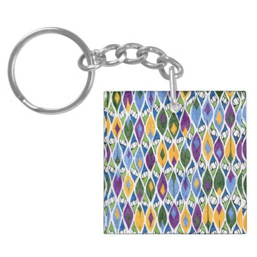 rhombus-lock buds acrylic keychains