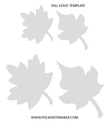 Oak Tree Leaf Patterns Fall Leaf Templates For Decorations On