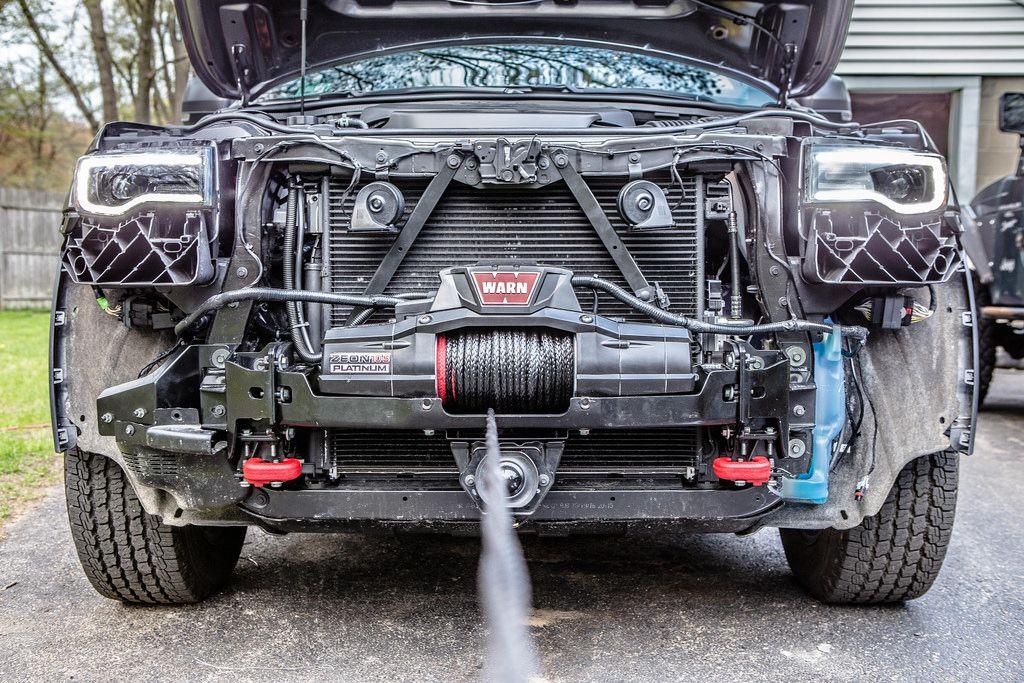 Chief Products Hidden Winch Installation Jeep Garage Jeep