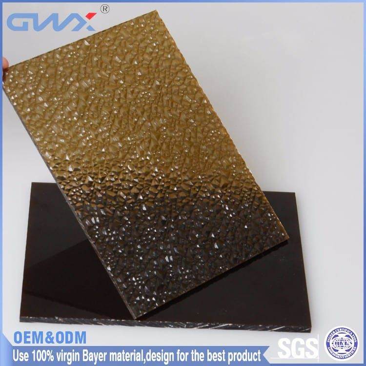 Www Chinagwxpc Com Embossed Diamond Pc Sheet Color Clear Brown Green Opal Blue Material Bayer Or Sabic Raw Material Thickness 1 Raw Materials Glass Opal