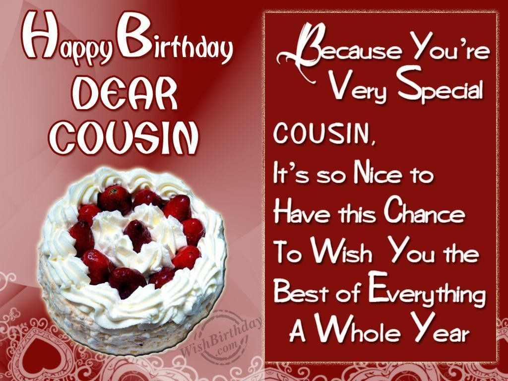 birthdaywishescousinimages – Birthday Greetings for Cousins