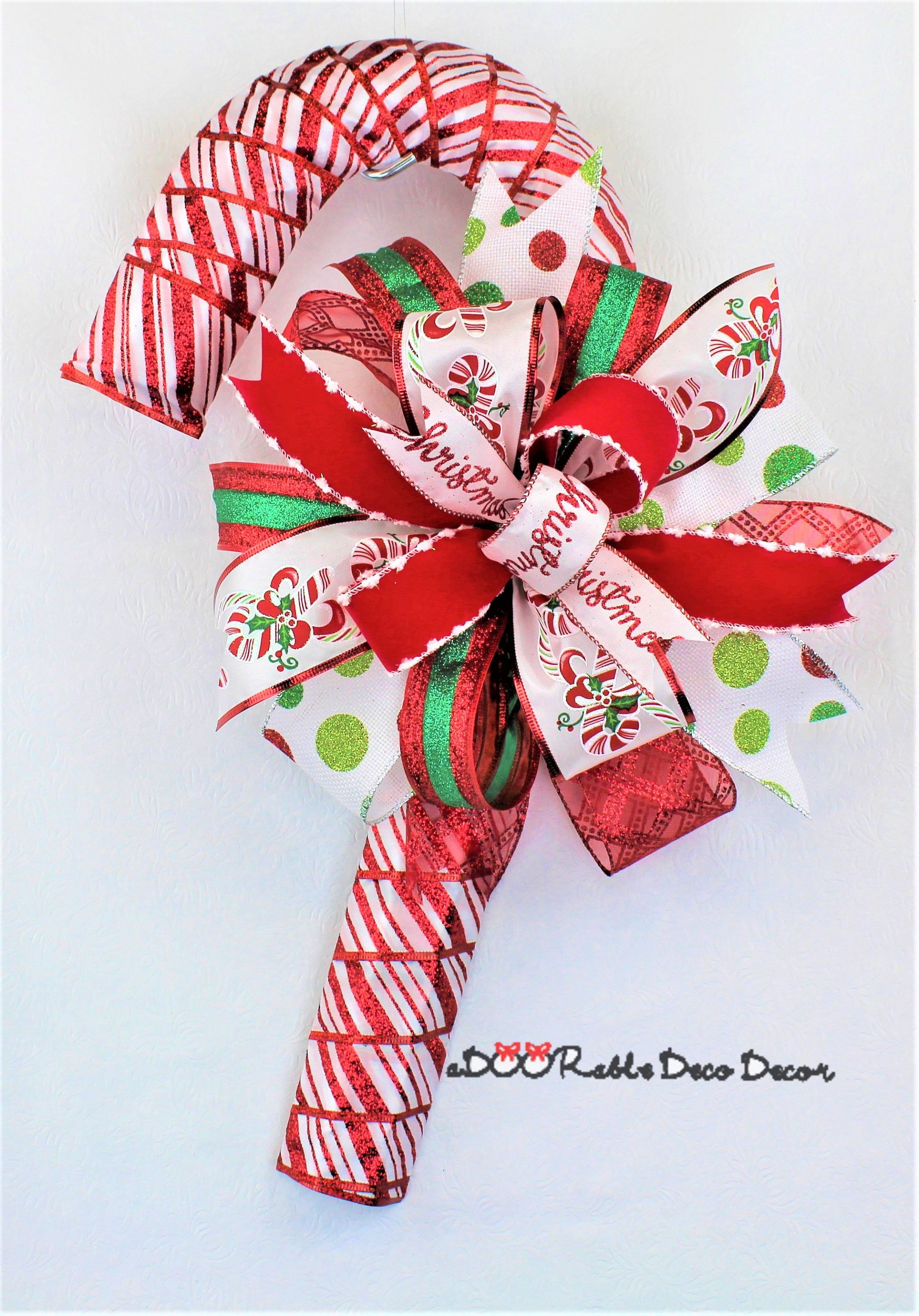 Christmas Decorations Candy Canes Candy Cane Christmas Wreath Candy Cane Wreath Candy Cane Door