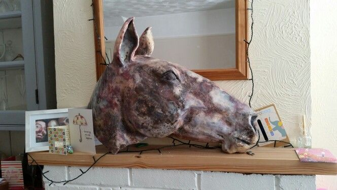 Pit fired horse head
