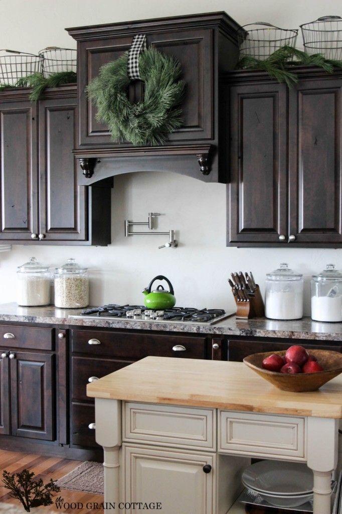 Christmas Home Tour Trendy Farmhouse Kitchen Kitchen Remodel Farmhouse Kitchen Cabinets