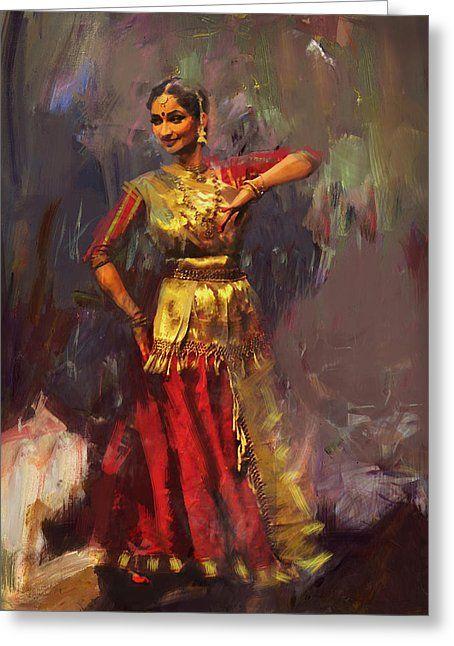 Classical Dance Art 9 Greeting Card By Maryam Mughal Dance Paintings Indian Art Paintings Dance Art