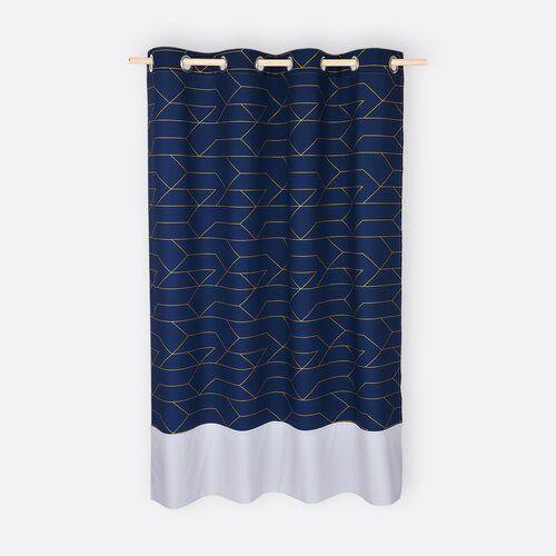 Gold Lines Eyelet Blackout Curtains Kraftkids Size 230cm H X