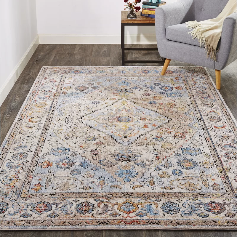 Lorentzen Blue Brown Ivory Area Rug With Images Area Rugs