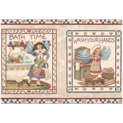 Retro Art Bath Time Wash Your Hands Kitchen Bathroom