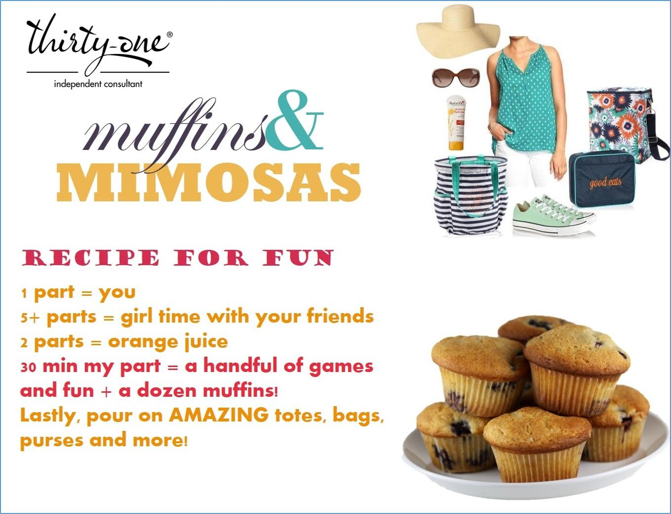 muffins & mimosa party invite | thirty one | Pinterest | Mimosa party