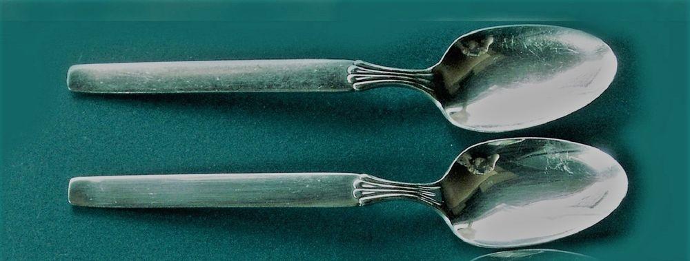 TWILIGHT 2 Table Serving Spoons Oneida 1956 Silverplate Flatware
