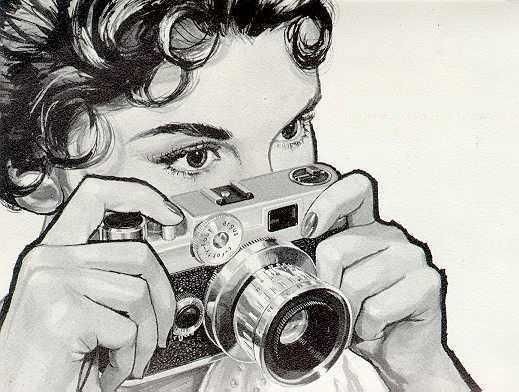 awesome, black and white, camera, drawing, vintage