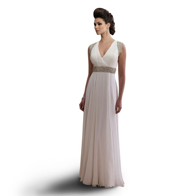 Robe de soir e gr co romaine et taille empire mariage for Robes de mariage empire uk
