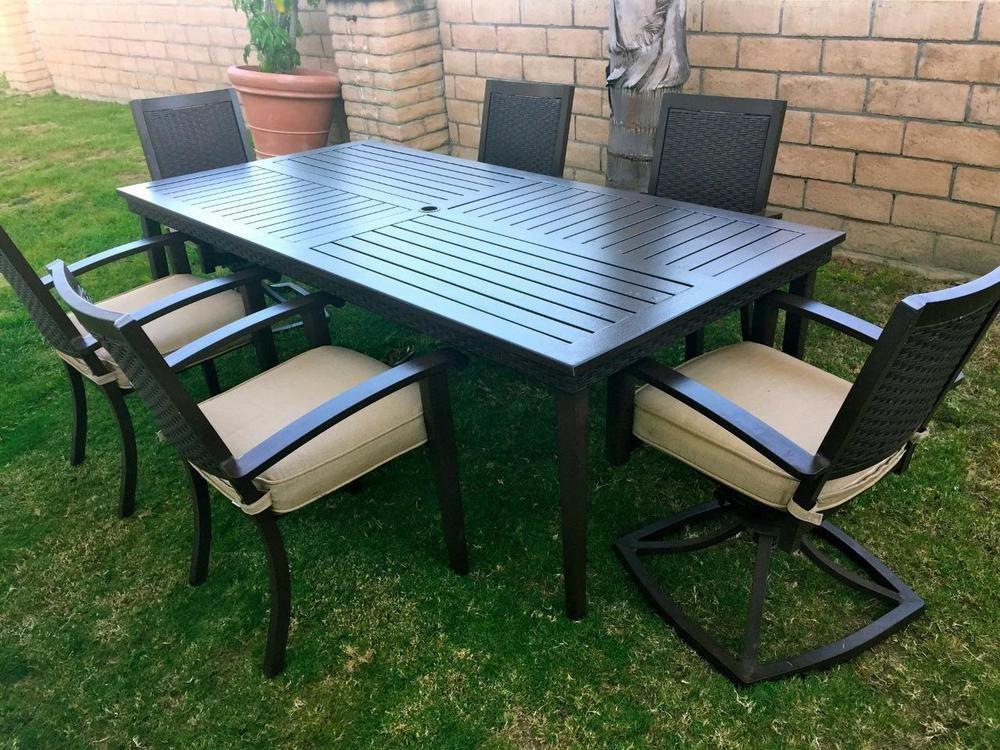 Amazing VERANDA CLASSICS BY FOREMOST PATIO SET U0026$2600 VALUE~table U0026 6 Chairs (2