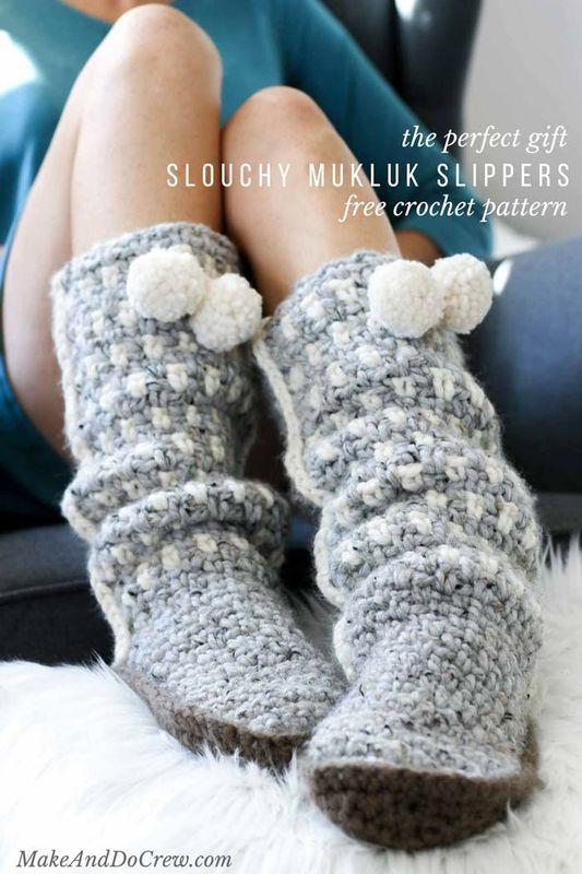 Sierra Easy Crochet Slippers For Adults C Yarn Pinterest