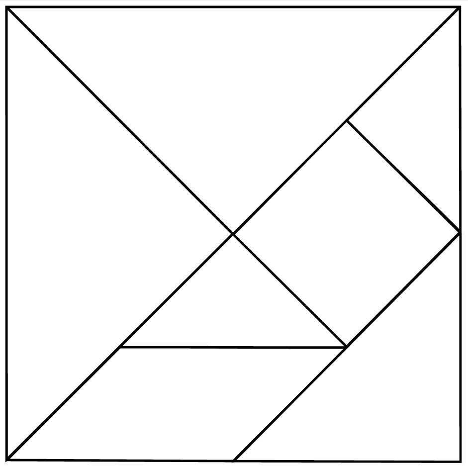 This is a graphic of Handy Printable Tangram Patterns