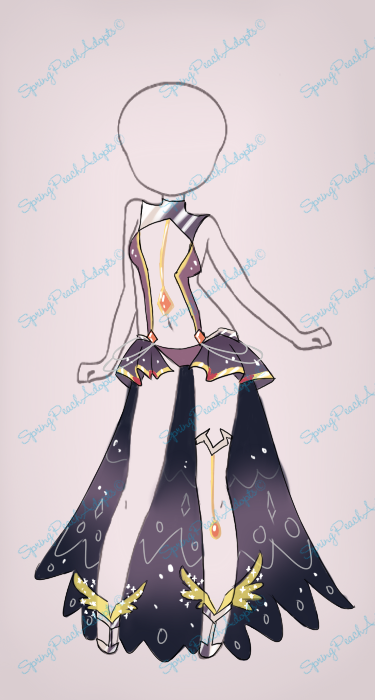 Ruby Black Outfit Auction[CLOSE] by SpringPeachAdopts.deviantart.com on @DeviantArt