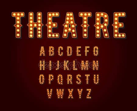 Casino or broadway signs style light bulb alphabet letter - letter of character